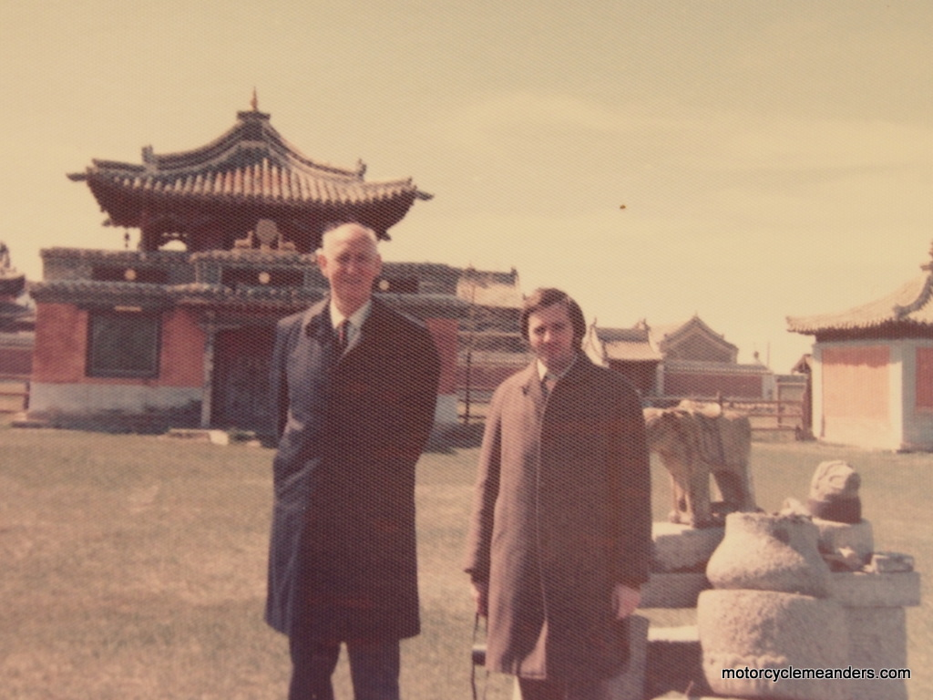 At Erdene Zuu with Sir James Plimsoll 1975