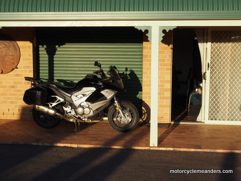 At my motel in Hillston