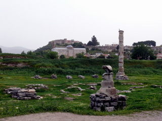 Thr only remains of the Temple of Artemis
