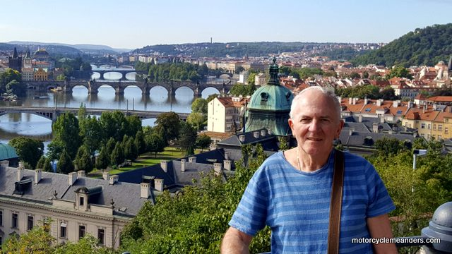 Overlooking the Vltava River and Bridges of Prague
