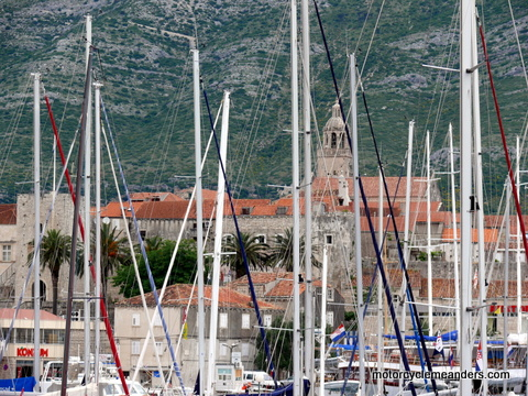 Korcula town from marina