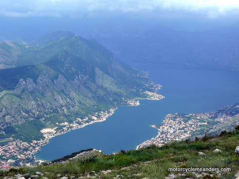 Looking down on Adriatic Bay to Kotor