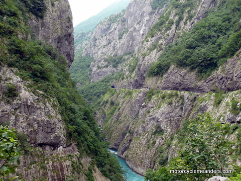 Goege and cliff-road in Montenegro