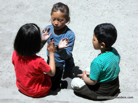 Kids at play in Leh