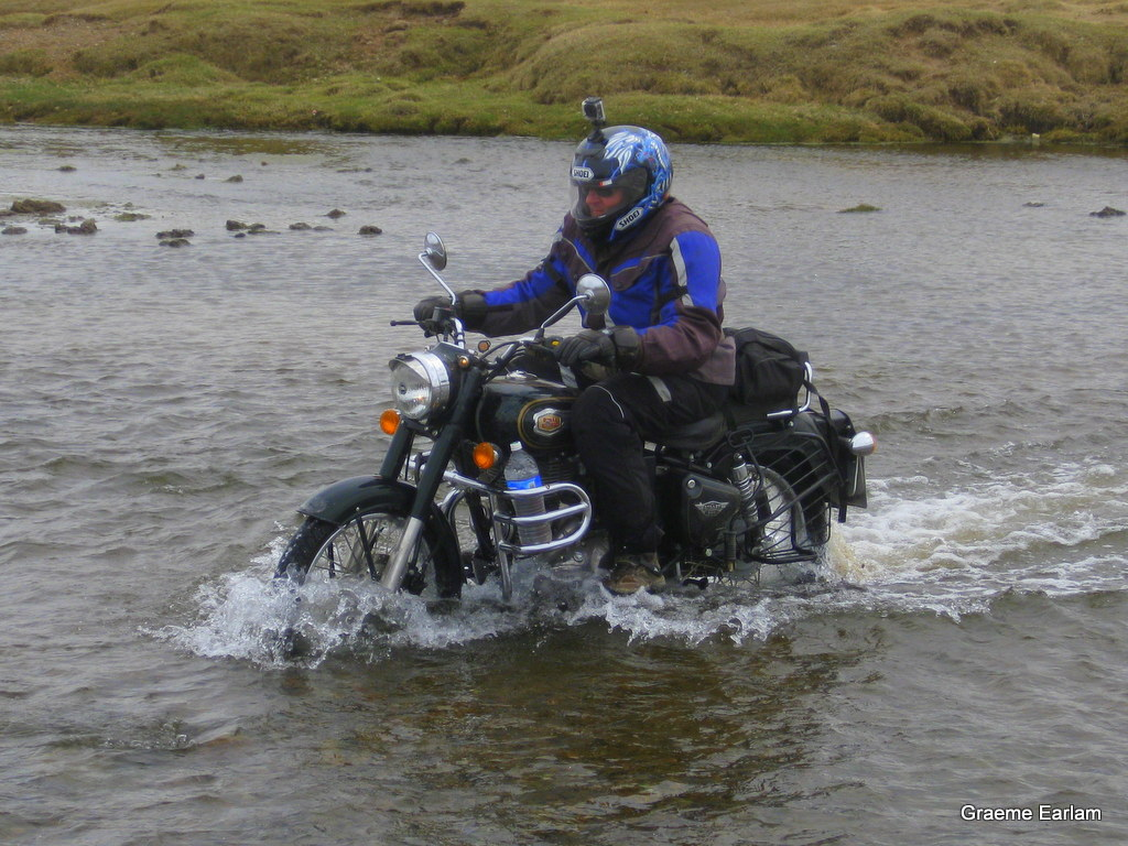 River crossing in Mongolia