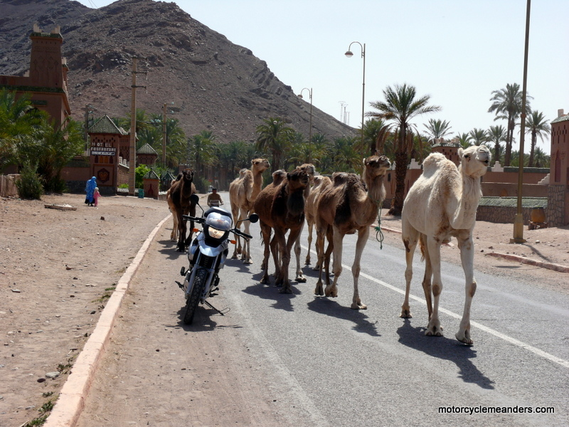 Local traffic on the road back to Zagora