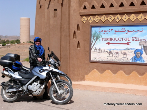 At Zagora in Morocco: 52 days to Timbuktoo