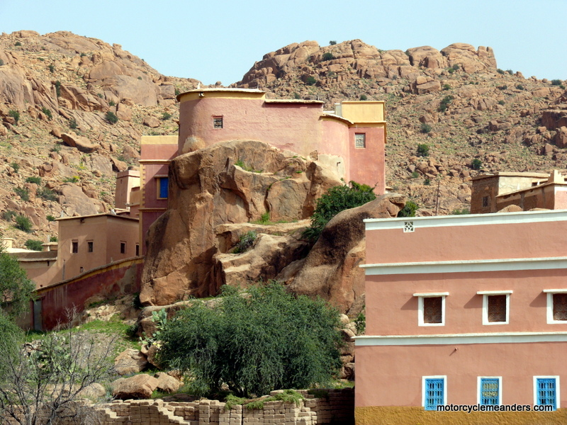 Houses built into the rocks at Tafraout