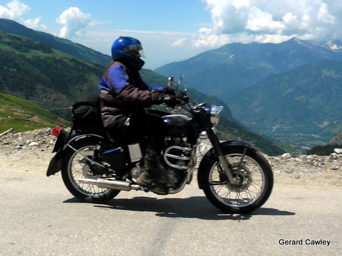 My Enfield and I in Himalaya 2012