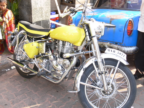 Royal Enfield belonging to Shantaram