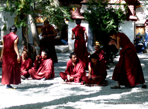 Monks Debating at Sera Monastery, Lhasa