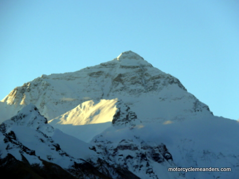 Everest in morning sun