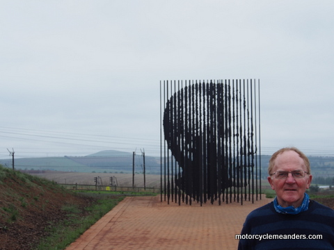 Monument at Mandela capture site