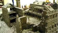 model of Alcazar at end of siege