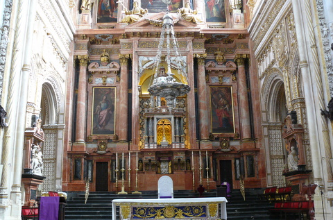 Altar of the cathedral within the Mezquita
