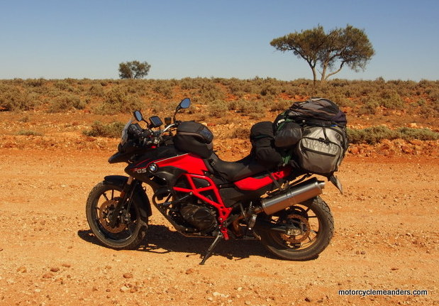 F700GS loaded for Darling River Run