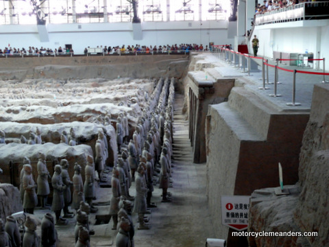 Forward Rows of Terracotta Warriors in Pit No 1