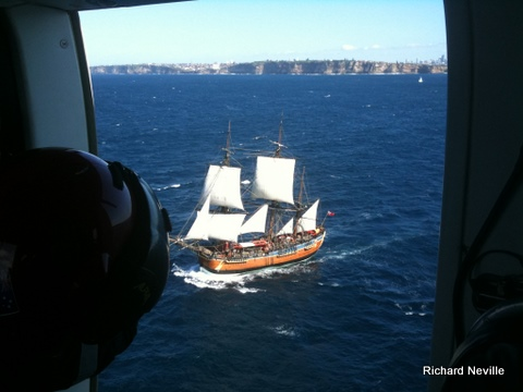 Endeavour shot from FireAir 1 on day 1 at sea