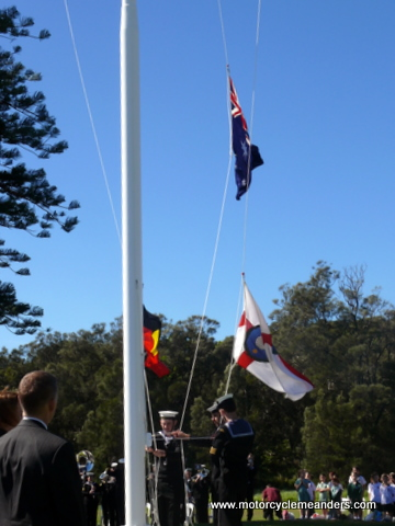 Flag raising at Two Cultures ceremony