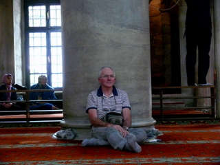 A quiet moment in the Eyüp Mosque, Istanbul