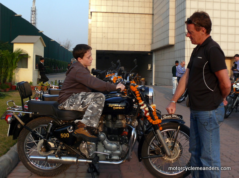 Learning how to start the Royal Enfield