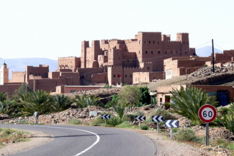 A ksar (fortified Village) in Draa Valley