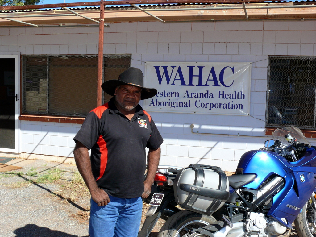 Wally, a health worker at Hermannsberg NT