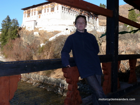 Dylan at Paro Dzong (just like the movie)