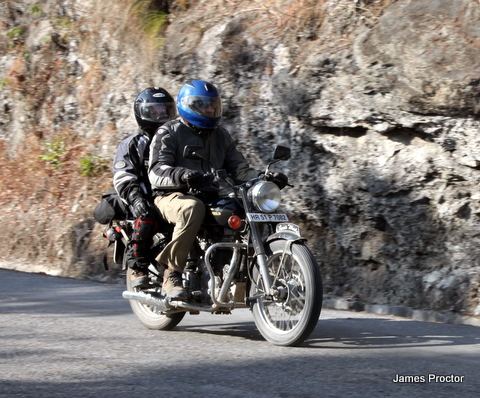 Riding with Dylan to Pokhara