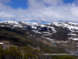 View of Kosciuszko and sources of the Snowy from Charlotte Pass