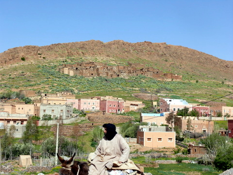 Old and new villages in countryside on way to Tafraout